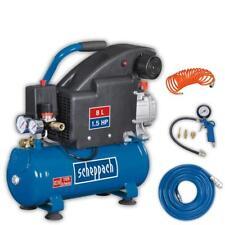 Scheppach Druckluft Kompressor HC08 + 5 tlg. Druckluft-Set & 15m Gewebeschlauch