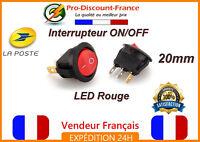 1 x INTERRUPTEUR ON OFF 20mm LED Rouge 250V 6A Bouton Electronique ON/OFF