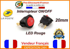 1 x INTERRUPTEUR ON OFF 20mm LED Rouge 250V 6A Bouton Electronique ON/OFF