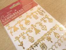 Shiny Gold Foil Christmas Decoration Labels Stickers Sticky Labels WD-27