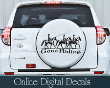 gone riding horse Spare Wheel Cover Wall Van Car sticker decal WHEEL STICKER