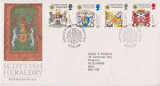 GB ROYAL MAIL FDC 1987 SCOTTISH HERALDRY STAMP SET ISLE OF BUTE PMK