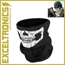 SKELETON GHOST SKULL FACE MASK BIKER BALACLAVA FANCY DRESS COD GAME COSTUME