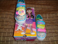 Skechers 10383L Peace N' Love Light-Up Kid Sneaker Multicolor 3.0 Little Kid Nib
