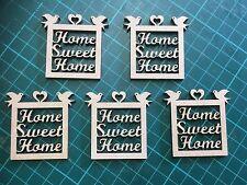 MDF in legno in miniatura Home Sweet Home/forma/Segno/Stencil