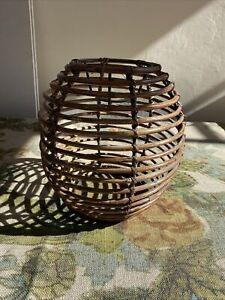 Vintage Bamboo Lampshade