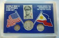 1944 PHILIPPINES - WORLD WAR II - ALL SILVER TYPE COIN SET (3) - RARE BEAUTY!