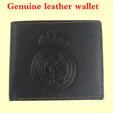 For Real Madrid soccer fans genuine leather wallet ID Card Holder bifold Purse 1