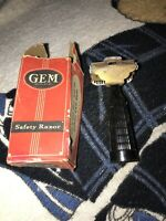 Vtg GEM Junior Jr. SE Single Edge Safety Razor Fat Handle In Original Retail Box