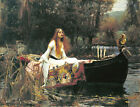 The Lady Of Shalott by John William Waterhouse, in various sizes, Canvas Print