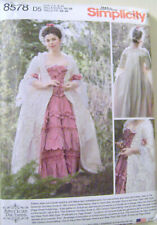Simplicity 8578 18th Century Gown~Stomacher~Petticoat~Sewing~costume~Size 4-12