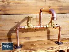 Copper Pipe Bowl Sink Swivel Mixer Taps - Surface Mounted Bowl Basin Taps - 22mm