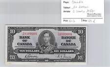 BILLET CANADA - 10 DOLLARS - 2-1-1937