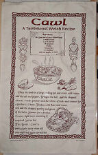 TRADITIONAL WELSH CAWL RECIPE TEA TOWEL WALES BIRHDAY CHRISTMAS RUGBY KITCHEN