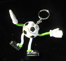 Bendable Smiling Soccer Ball Key Chain  ~ Ray Rohr Cosmic Artifacts Estate