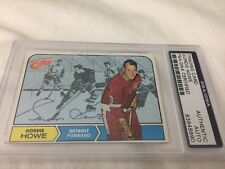 Gordie Howe #29 signed autograph 1967-1968 Topps Hockey Card PSA/DNA