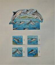 PITCAIRN ISLANDS DOLPHINS STAMPS Lot of 5