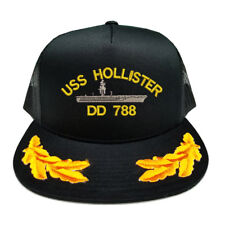 CUSTOM MAKE USS HOLLISTER DD 788 SCRAMBLED EGGS YUPOONG CAP HAT