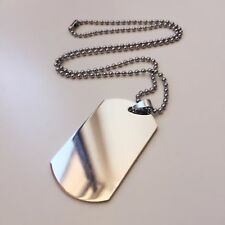 Special Stainless Steel Necklace Engravable Military Army Dog Tag & Chain