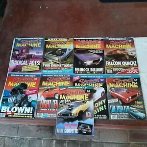 Vintage Street Machine magazines. Lot of 9. 1988 -1990.