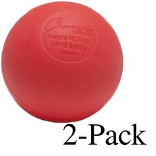Champion Sports Official Size Rubber Lacrosse Ball, Red (Pack of 2)