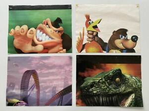 4x N64 Nintendo 64 Gamer Posters