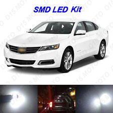 8 x White LED interior Bulbs + Reverse + Tag Lights for 2014-2016 Chevy Impala