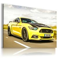 FORD MUSTANG YELLOW Super Sport Cars Large Wall Art Canvas Picture AU160  MATAGA