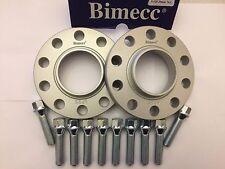 15mm BIMECC Plata hub espaciadores centrados en + 10 x Tornillos 40mm se ajusta Audi M14X1.5 572