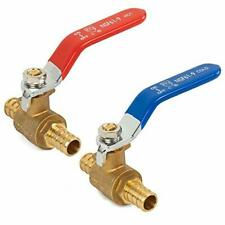 Hourleey 2 Pieces 12 Inch Pex Brass Full Port Shut Off Ball Valve Hot And Co