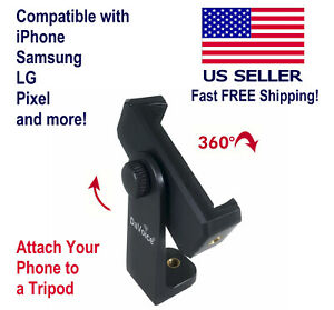 DaVoice iPhone Tripod Mount - Cell Phone Adapter Holder Compatible with