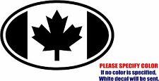 "Flag of Canada Decal Sticker JDM Funny Vinyl Car Window Bumper Truck Laptop 12"""