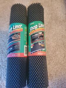 "Lot of 2 Manco Nonslip Toolbox Liner Truck Boxes Shelves Drawers Shop 12"" x 5 ft"