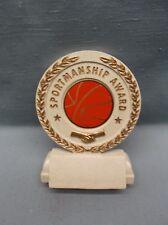 Basketball insert ball white resin sprotsmanship award