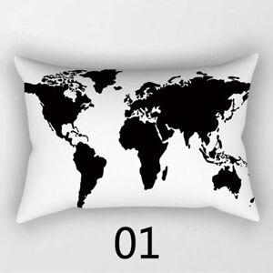30*50cm Simple Black White Geometric Pillowcases Throw Pillow Cushion Cover New