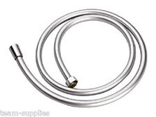 Easy Clean Luxury Plastic Grey Silver Flex Smooth PVC Shower Hose 1.5m