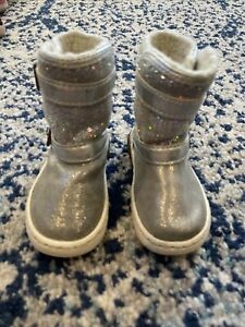 Stride Rite Boots Silver Toddler Girl  Size US 5.5