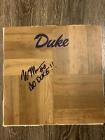 "WENDELL MOORE JR SIGNED AUTOGRAPHED DUKE BLUE DEVILS FLOORBOARD! ""Go Duke!"" HOT!"