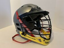 Cascade Grey Yellow Lacrosse Helmet, Face Mask And Chin Strap