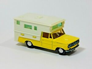 1972 Dodge Camping Car Camper Yellow Majorette 209 1:80 Made in France
