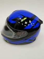 GMAX Berg FF-49 Full Face Snowmobile Helmet Black/Blue Large