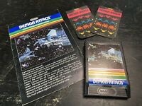 Demon Attack For Mattel Intellivision (Cart, Manual, 2 Overlays) Tested Working!