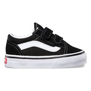 Vans Toddlers Old Skool V Black suede VN-000D3YBLK All Sizes 4-10 Free Shipping