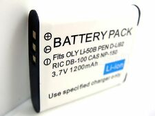 3.7V Battery for Olympus Tough TG-610 TG610 TG-810 TG810 TG-805 TG805 SH-21 SH21