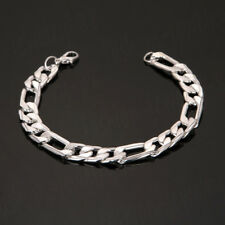 Stainless Steel Wristband Bracelet Men Women Chain Link Bangle Charm Jewelry