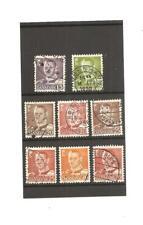 Denmark, 8 stamps King Frederick IX  15-30 ore. 1948.