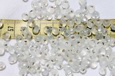 2/0 Tear Drop Czech Glass Seed Beads Fringe Drop Bead S/L White Opal Matte /1oz
