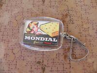 ancien PORTE CLE publicitaire matelas mondial, frais l été chaud l hiver,vintage