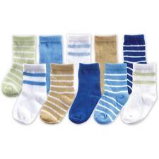Luvable Friends Newborn Baby Boys' Socks 10-Piece Giftbox Set 0-9 Months