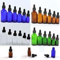 5ML--100ML Glass Reagent Eye Dropper Drop Aromatherapy Liquid Bottle 5-50Pcs